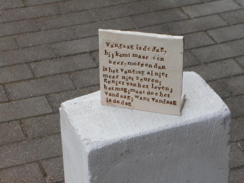 Tegel Met Tekst : Art. hui 6 tegel met tekst naar keuze de bonte bazart